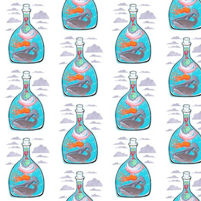 Ocean Creatures in a Bottled Sea