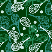 Tennis in Greens & Whites
