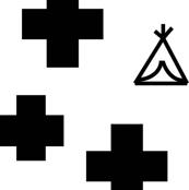 Monochrome teepees