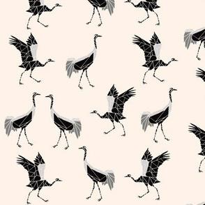 Cranes black pink