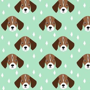 summer strolling beagle - elvelyckan