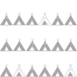 Southwest teepees Grey&White
