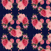 Classic Roses in Navy