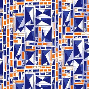 blue and orange geo