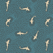 Sharks in a School — light pink, dark blue