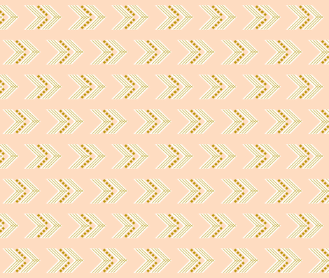 blush gold chevron // horizontal