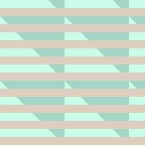 tan double mint stripes triangle