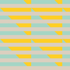 tan yellow mint stripes triangle