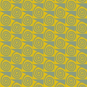 Coiled Triangles Gold Grey