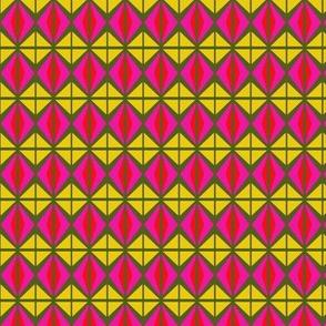 Quad Kites Yellow Pink