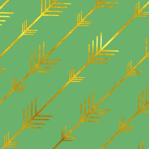 Gold Arrows in Spring Lawn