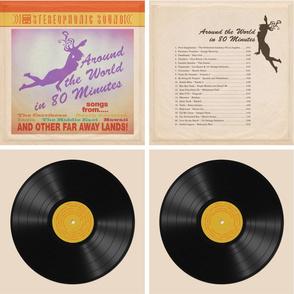 Vintage Vinyl Record Tote