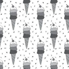 Monochrome Icecream Cones
