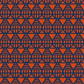 Teardrop Kites Blue Orange