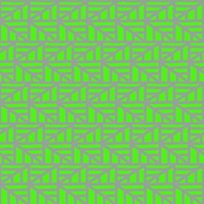 Zigzag Arrows Green Grey
