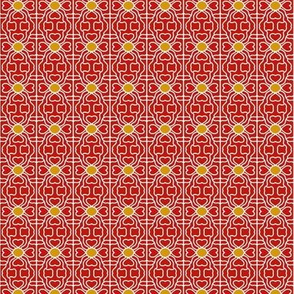 Hearts Flowers Red Gold