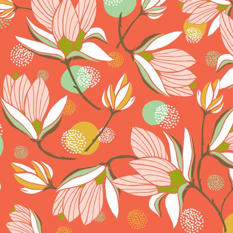 Magnolia Blossom Red