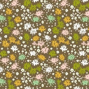 Sweet Tea Floral Geometric Brown