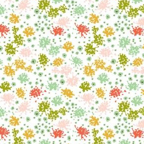 Sweet Tea Floral Geometric White