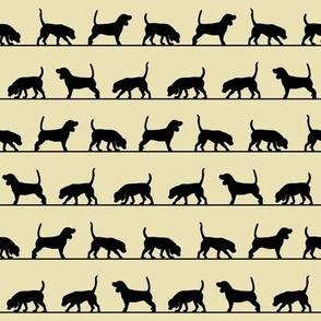 Beagle silhouettes on ecru by Su_G