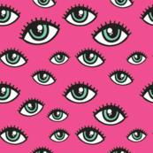 eyes pattern pink