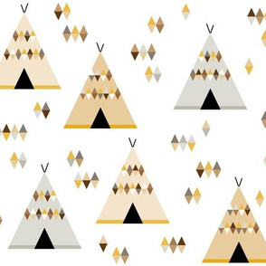 Teepees in yellow