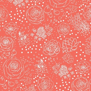 Poppy Red Floral