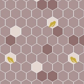 Mauve Bird Hexies