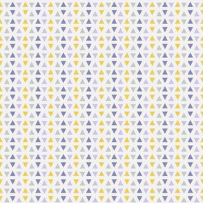 Southwest Triangles (Lilac, gray & yellow)