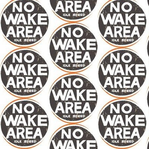 No Wake Area