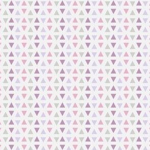Southwest Triangles (Lilac & pink)
