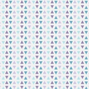 Southwest Triangles (Lilac & turquoise)