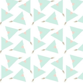 Teepee 5: white, mint and coral