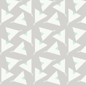 Teepee 5: grey, white and mint