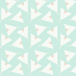 Teepee 5: mint, white and coral