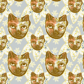 Calico Cat Garden Gray