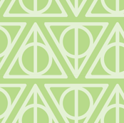 Pastel Potter - Green Deathly Hallows