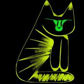 Golden Cat Green Eyes