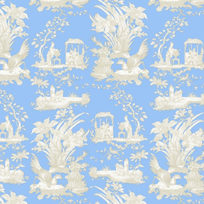 Chinoiserie Toile ~ Jasper Blue and White