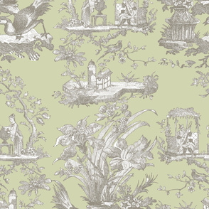 Chinoiserie Toile ~ Javert on Sylvan