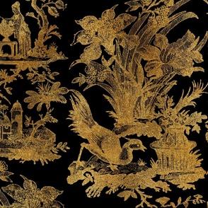 Chinoiserie Toile ~ Gilt Lacquerware
