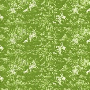 The Grand Hunt Toile ~ Bracken and White