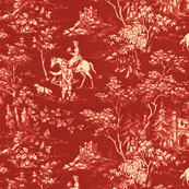 The Grand Hunt Toile ~ Turkey Red and Trianon Cream