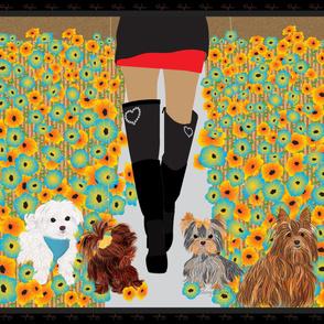 Yorkie- Boots Stylin the Flower Garden
