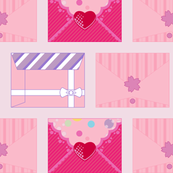 Love Live Pink Envelopes