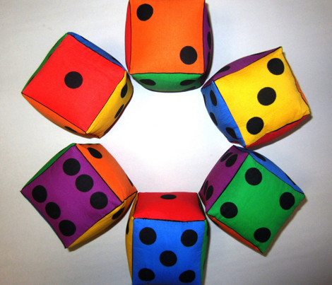 Early Maths Play Dice