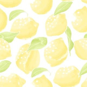 Lemons on white