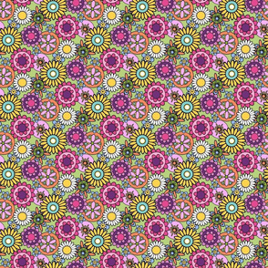 HAPPY__Flower_Garden-Mini_Brights-Spoonflower-green