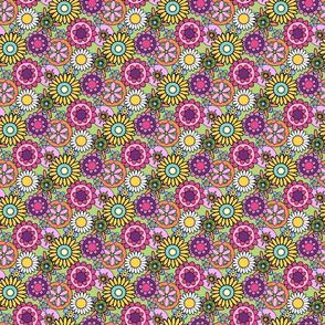 HAPPY__Flower_Garden-Mini_Brights-Spoonflower-green