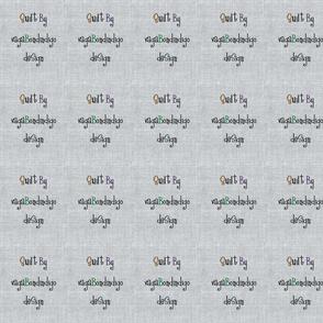 vagabondindigo design quilt tag- linen